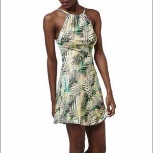 Topshop tropical print dress